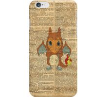 Pokemon - Charmander Costume Dictionary iPhone Case/Skin