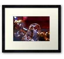 Sparkling glass Framed Print