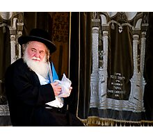 Rabbi and His Scrolls Photographic Print