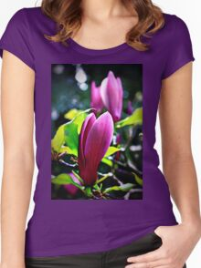 Magnolia Blossoms Women's Fitted Scoop T-Shirt