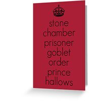Harry Potter Book Titles Greeting Card