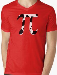 Cow Pi Funny Geek Nerd Mens V-Neck T-Shirt