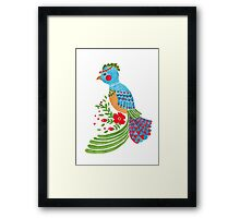 The Blue Quetzal Framed Print