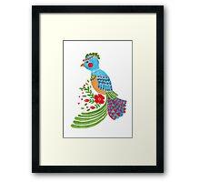 The Blue Quetzal Framed Print
