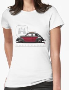 Black and Red Beetle Womens Fitted T-Shirt