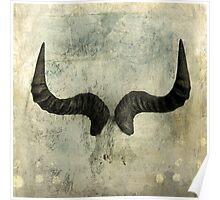 Wildebeest Horns Poster