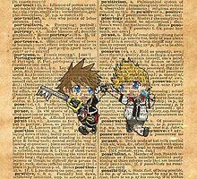 Kingdom Hearts - Roxas & Sora Friends Dictionary by Aaron Campbell
