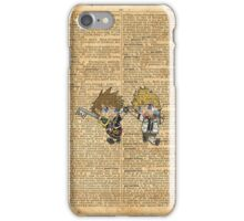 Kingdom Hearts - Roxas & Sora Friends Dictionary iPhone Case/Skin