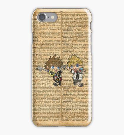 Kingdom Hearts - Roxas & Sora Friends Dictionary iPhone Case/Skin