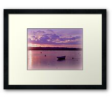 Alone on the water Framed Print