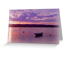 Alone on the water Greeting Card
