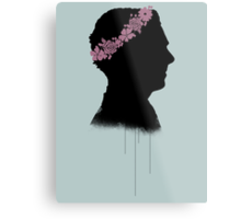 Cumberbatch in a flower crown Metal Print
