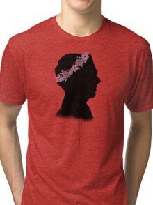 Cumberbatch in a flower crown Tri-blend T-Shirt