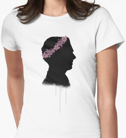 Cumberbatch in a flower crown Womens Fitted T-Shirt