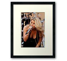 Jessica Simpson stage portrait (Romo Technique?) teehee Framed Print
