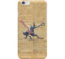 Super Smash - Greninja Dictionary iPhone Case/Skin