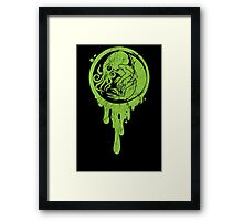 Baby Cthulhu (distressed)  Framed Print