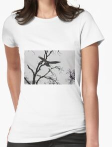 Red Shoulder Hawk Womens Fitted T-Shirt