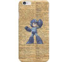 Super Smash - Mega man Dictionary iPhone Case/Skin