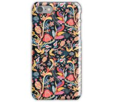 Bright floral pattern with birds iPhone Case/Skin