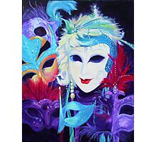 Venetian Carnival Masks Photographic Print
