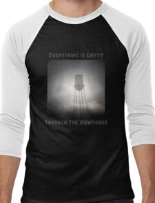 Everything is Gritty Through the Viewfinder (TtV) Men's Baseball ¾ T-Shirt