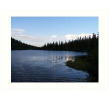 Nightfall on the Lake Art Print
