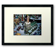 Snowfield Village Framed Print