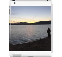 person by the lake iPad Case/Skin