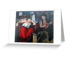 Fado After Jose Malhoa  Greeting Card