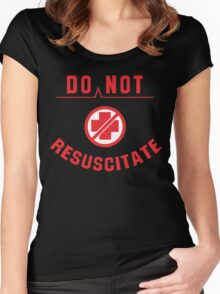 Do Not Resuscitate Funny Geek Nerd Women's Fitted Scoop T-Shirt