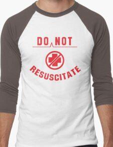 Do Not Resuscitate Funny Geek Nerd Men's Baseball ¾ T-Shirt