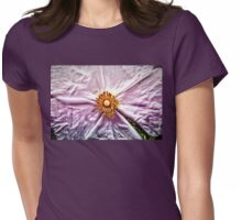 Paper Flower Womens Fitted T-Shirt
