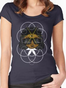 THREE EYEZ Women's Fitted Scoop T-Shirt