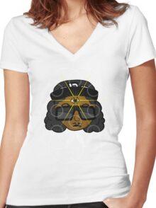 THREE EYEZ Women's Fitted V-Neck T-Shirt