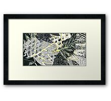 Leaves 28 Mixed Media - Ink on Acrylic Monoprint Framed Print