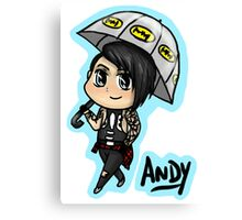 BVB - Andy Biersack with an Umbrella Canvas Print