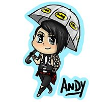 BVB - Andy Biersack with an Umbrella Photographic Print