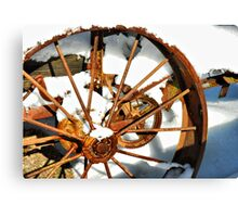 The Squeaky Wheel Didn't Get The Grease......... Canvas Print