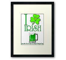 I Love Irish Beer Framed Print