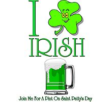 I Love Irish Beer Photographic Print