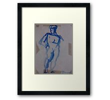 BLUE MAN FIGURE - COPY FROM ART BOOK(C1982) Framed Print