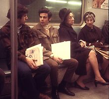 New York Subway Riders by RonnieGinnever