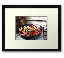 throw it all in Framed Print