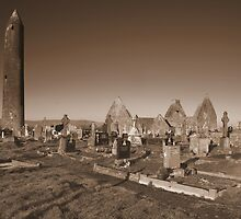 Kilmacduagh cemetery by John Quinn