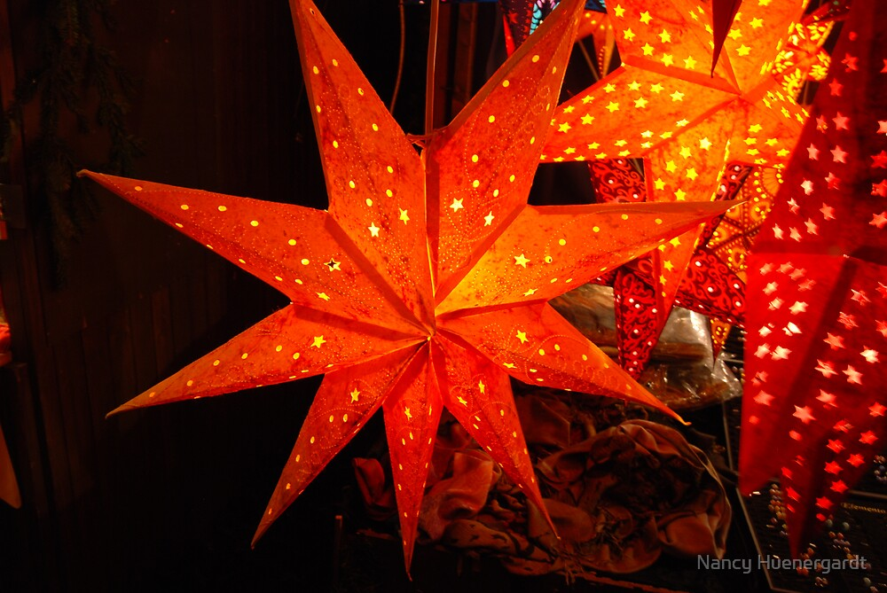 Orange stars by Nancy Huenergardt
