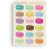Which macaron are you? Canvas Print