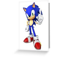 Sonic - Sonic the Hedgehog Greeting Card