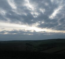New Years Day sky from Maiden Castle, Dorset by richalfa156