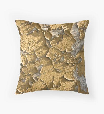 peeling wall Throw Pillow